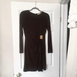 Michael Kors | Long Sleeves Brown Dress